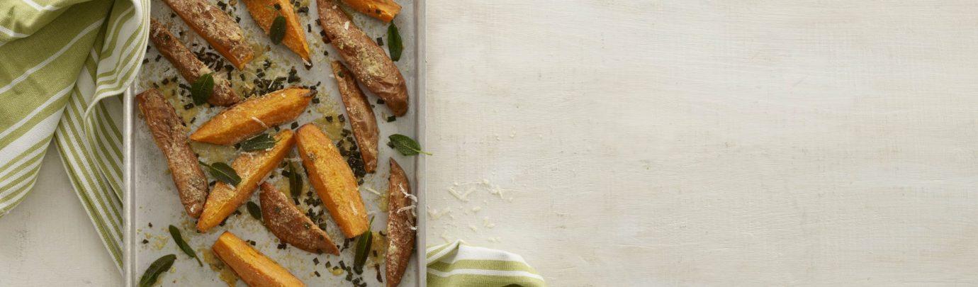Parmesan Roasted Sweet Potato Wedges