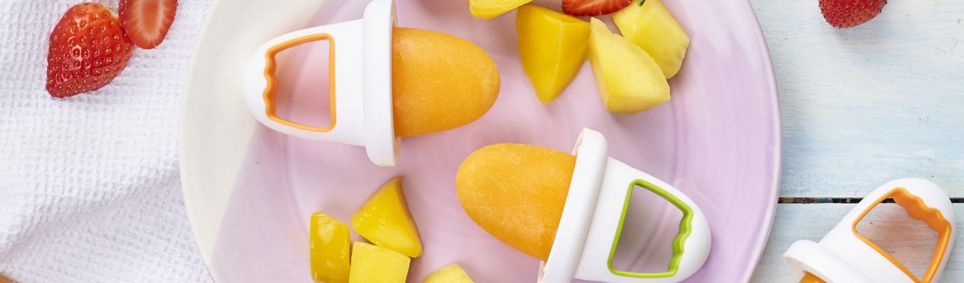 Carrot & Mango Ice Lollies
