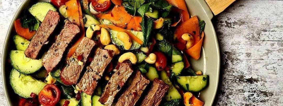 Crunchy, Spicy Thai Beef Salad
