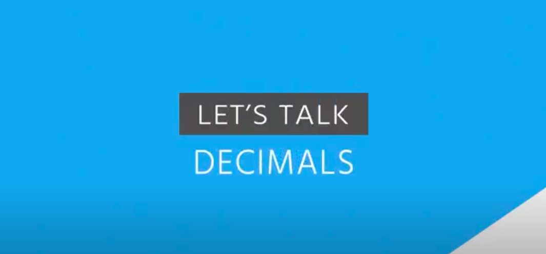 Lets Talk Decimals Video