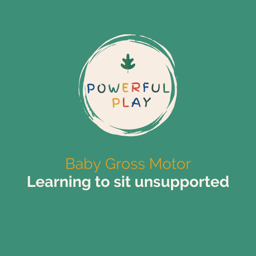 Baby Gross Motor- Learning to sit unsupported Video