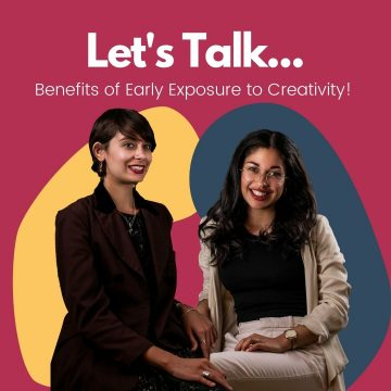 Cofounders surronded by colour and the title 'Let's Talk'
